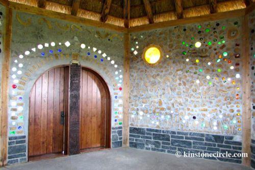 Kinstone cordwood chapel interior