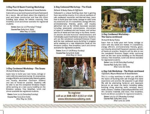 Kinstone workshops brochure 2